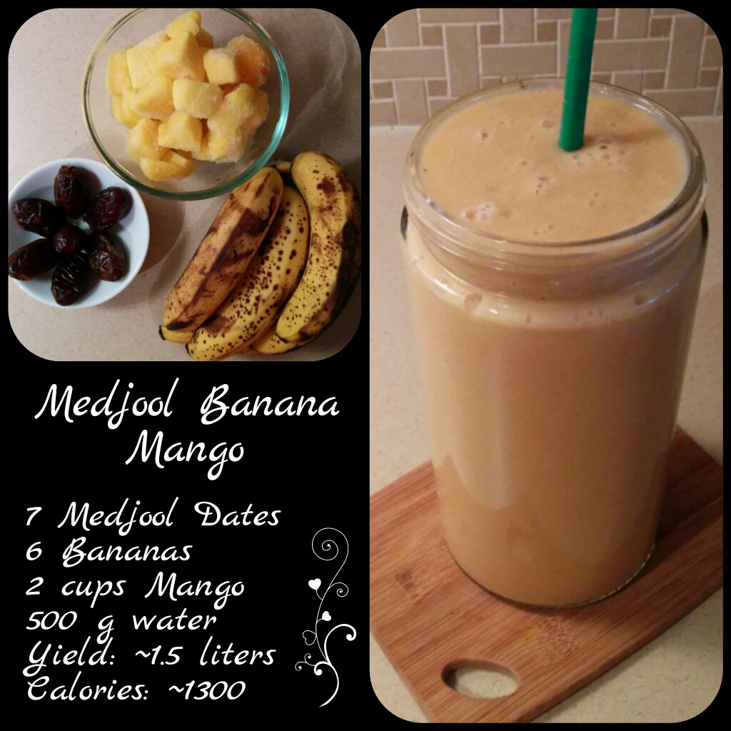 Banana Mango Date Smoothie