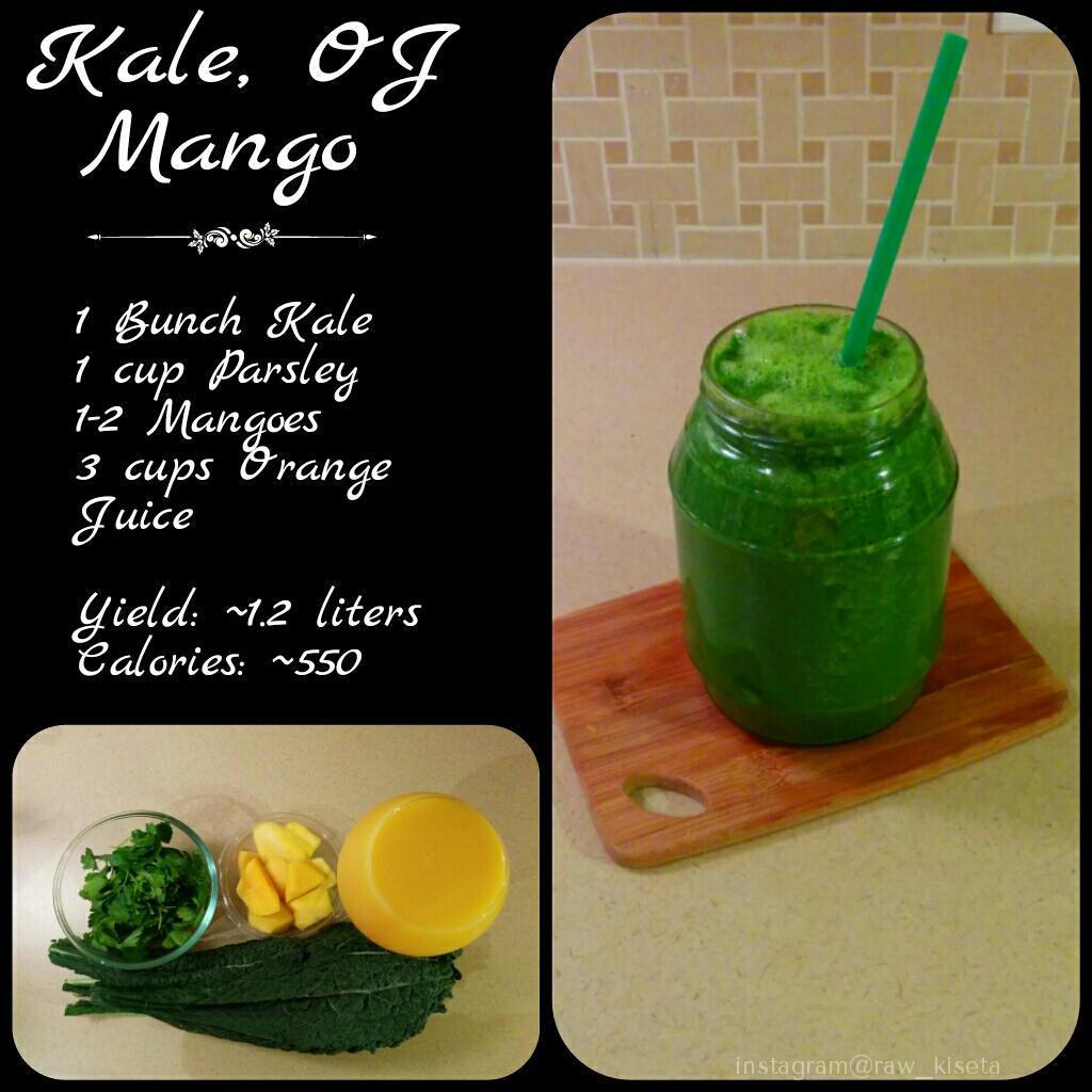 Kale Mango OJ Smoothie