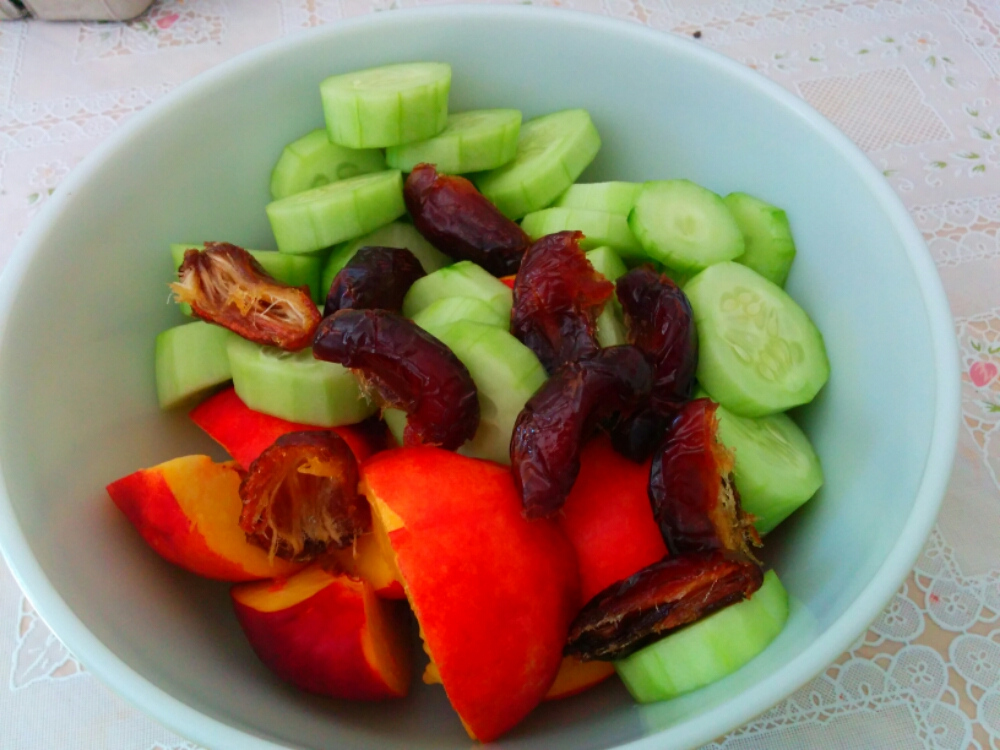 Cucumber Date Nectarine Salad