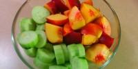 Nectarine and Cucumber Salad