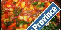Vegan Soup (Raw Till 4) published in The Province Newspaper