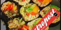 Raw Vegan Sushi with Cauliflower Rice is featured on Gastropost
